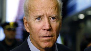 Wilmington, 2019. április 25. Joe Biden volt amerikai alelnök nyilatkozik a sajtónak a Delaware állambeli Wilmington vasúti pályaudvarán 2019. április 25-én. Barack Obama egykori helyettese ezen anapon bejelentette indulását a Demokrata Párt színeiben a 2020-ban esedékes amerikai elnökválasztáson. MTI/AP/Matt Slocum