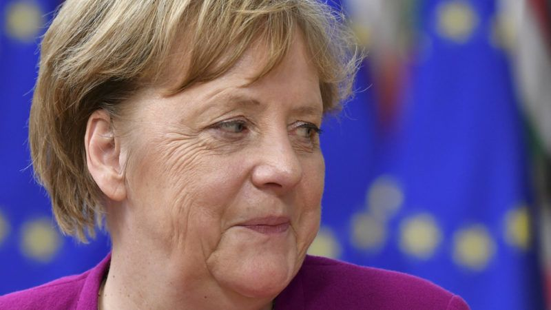 Brüsszel, 2019. május 28. Angela Merkel német kancellár az Európai Unió rendkívüli brüsszeli csúcsértekezletére érkezik 2019. május 28-án, két nappal az európai parlamenti választások után. MTI/EPA/Sascha Steinbach