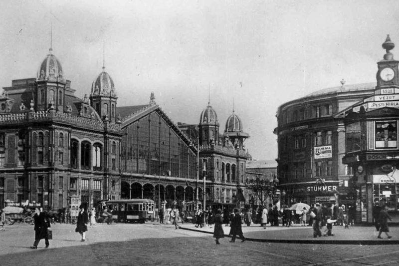 1931. Magyarország, Budapest VI. Nyugati (Berlini) tér.PESTI BRÚNÓ