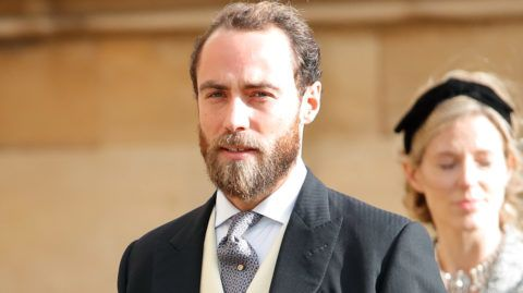 WINDSOR, UNITED KINGDOM - OCTOBER 12: (EMBARGOED FOR PUBLICATION IN UK NEWSPAPERS UNTIL 24 HOURS AFTER CREATE DATE AND TIME)  James Middleton attends the wedding of Princess Eugenie of York and Jack Brooksbank at St George's Chapel on October 12, 2018 in Windsor, England. (Photo by Max Mumby/Indigo/Getty Images)