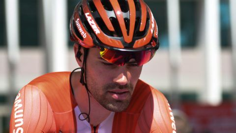 Tom Dumoulin of Netherlands and Team Sunweb, seen at the start of the third stage of UAE Tour 2019, the Department of Transport stage, a 179km with a start in Al Ain University and a finish in Jebel Hafeet. On Tuesday, February 26, 2019, in Al Ain, Abu Dhabi, United Arab Emirates. (Photo by Artur Widak/NurPhoto via Getty Images)