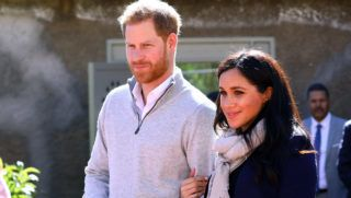 """ASNI, MOROCCO - FEBRUARY 24:   Prince Harry, Duke of Sussex and Meghan, Duchess of Sussex visit the """"Education For All"""" boarding house for girls aged 12 to 18 on February 24, 2019 in Asni, Morocco. """"Education For All"""" ensures that girls from rural communities in the High Atlas Mountain regions have access to secondary education.  (Photo by Tim P. Whitby - Pool/Getty Images)"""