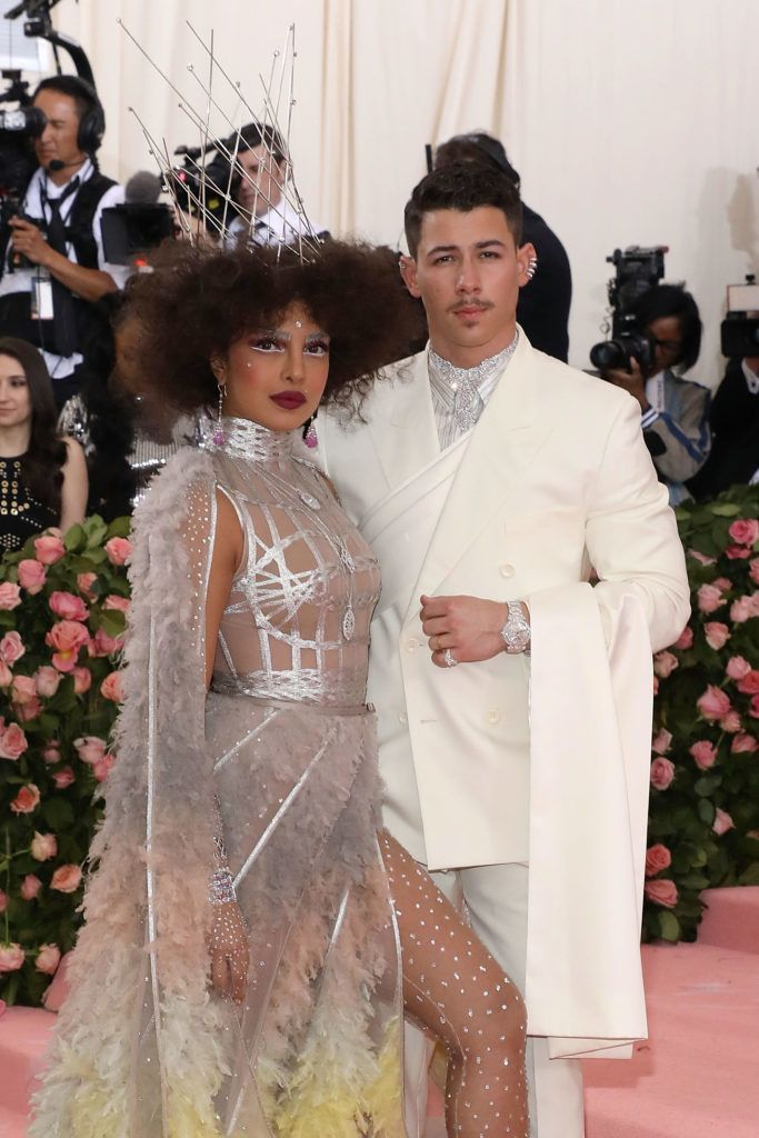 """NEW YORK, NY - MAY 06:  Priyanka Chopra and Nick Jonas attend the 2019 Met Gala celebrating """"Camp: Notes on Fashion"""" at The Metropolitan Museum of Art on May 6, 2019 in New York City.  (Photo by Taylor Hill/FilmMagic)"""