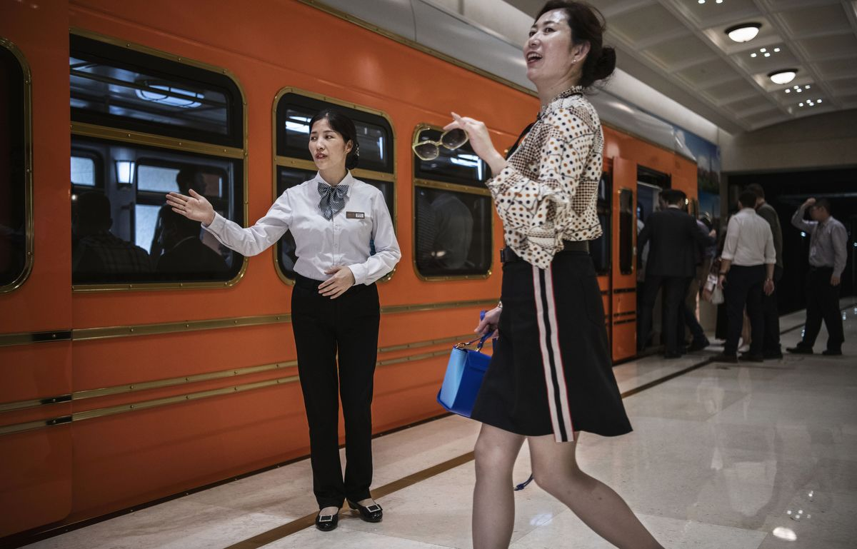 DONGGUAN, CHINA - APRIL 24: A Huawei hostess guides passengers to a train used by employees, clients and visitors at 'Paris Station' of the new sprawling 'Ox Horn' Research and Development campus on April 24, 2019 in Dongguan, near Shenzhen, China. Huawei is Chinas most valuable technology brand, and sells more telecommunications equipment than any other company in the world, with annual revenue topping $100 billion U.S.  Headquartered in the southern city of Shenzhen, considered Chinas Silicon Valley, Huawei has more than 180,000 employees worldwide, with nearly half of them engaged in research and development. In 2018, the company overtook Apple Inc. as the second largest manufacturer of smartphones in the world behind Samsung Electronics, a milestone that has made Huawei a source of national pride in China.While commercially successful and a dominant player in 5G, or fifth-generation networking technology, Huawei has faced political headwinds and allegations that its equipment includes so-called backdoors that the U.S. government perceives as a national security. U.S. authorities are also seeking the extradition of Huaweis Chief Financial Officer, Meng Wanzhou, to stand trial in the U.S. on fraud charges. Meng is currently under house arrest in Canada, though Huawei maintains the U.S. case against her is purely political. Despite the U.S. campaign against the company, Huawei is determined to lead the global charge toward adopting 5G wireless networks.  It has hired experts from foreign rivals, and invested heavily in R&D to patent key technologies to boost Chinese influence. (Photo by Kevin Frayer/Getty Images)