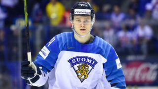 KOSICE, SLOVAKIA - MAY 11: Kaapo Kakko #24 of Finland during the 2019 IIHF Ice Hockey World Championship Slovakia group A game between Slovakia and Finland at Steel Arena on May 11, 2019 in Kosice, Slovakia. (Photo by Lukasz Laskowski/PressFocus/MB Media/Getty Images)