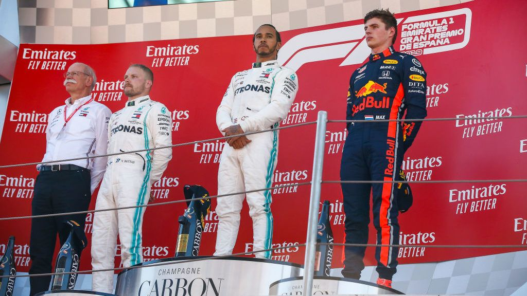 Mercedes driver Lewis Hamilton (44) of Great Britain wins the F1 Grand Prix race celebrated at Circuit of Barcelona 12th May 2019 in Barcelona, Spain.   (Photo by Urbanandsport/NurPhoto via Getty Images)