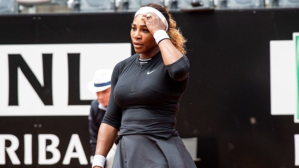 Serena Williams (USA) in action against Rebecca Peterson (SWE) during Internazionali BNL D'Italia  Italian Open at the Foro Italico, Rome, Italy on 13 May 2019. (Photo by Giuseppe Maffia/NurPhoto via Getty Images)