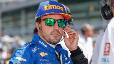 INDIANAPOLIS, IN - MAY 18: Fernando Alonso #66 of Spain and McLaren Racing, is seen at the Indianapolis Motor Speedway on May 18, 2019 in Indianapolis, Indiana. (Photo by Michael Hickey/Getty Images)