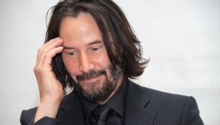"""NEW YORK, NEW YORK - APRIL 28: Keanu Reeves at the """"John Wick: Chapter 3 - Parabellum"""" Press Conference at the Four Seasons Hotel on April 28, 2019 in New York City. (Photo by Vera Anderson/WireImage)"""