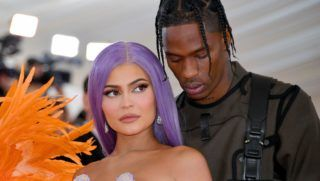 NEW YORK, NEW YORK - MAY 06: Kylie Jenner (L) and Travis Scott attend The 2019 Met Gala Celebrating Camp: Notes on Fashion at Metropolitan Museum of Art on May 06, 2019 in New York City. (Photo by Dia Dipasupil/FilmMagic)