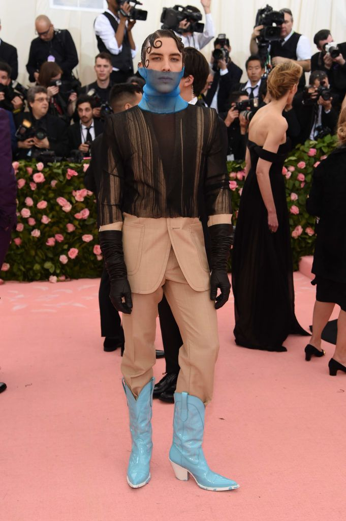 NEW YORK, NEW YORK - MAY 06: Cody Fern attends The 2019 Met Gala Celebrating Camp: Notes on Fashion at Metropolitan Museum of Art on May 06, 2019 in New York City. (Photo by Jamie McCarthy/Getty Images)