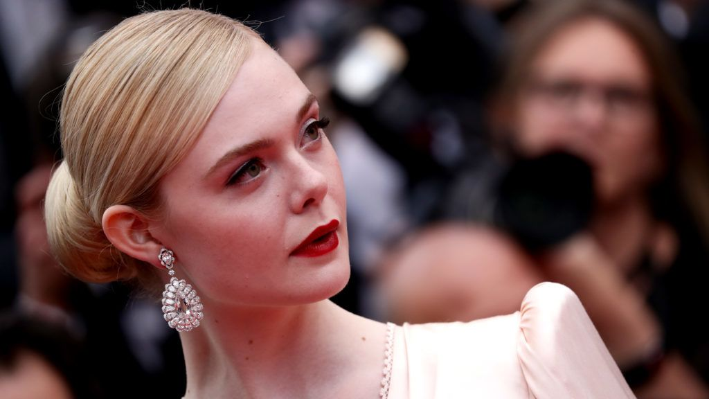 """CANNES, FRANCE - MAY 14: Jury Member Elle Fanning, wearing Chopard jewels, attends the opening ceremony and screening of """"The Dead Don't Die"""" during the 72nd annual Cannes Film Festival on May 14, 2019 in Cannes, France. (Photo by Vittorio Zunino Celotto/Getty Images)"""