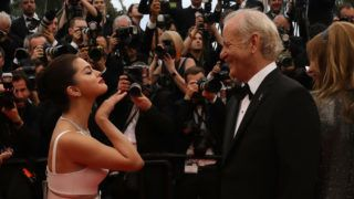 """CANNES, FRANCE - MAY 14: Selena Gomez and Bill Murray attend the opening ceremony and screening of """"The Dead Don't Die"""" during the 72nd annual Cannes Film Festival on May 14, 2019 in Cannes, France. (Photo by Tony Barson/FilmMagic)"""