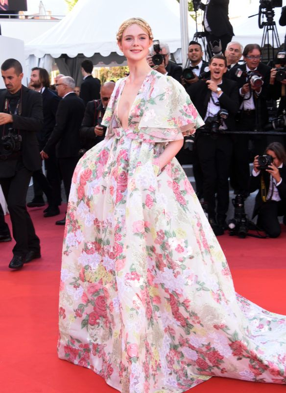 """CANNES, FRANCE - MAY 15: Elle Fanning attends the screening of """"Les Miserables"""" during the 72nd annual Cannes Film Festival on May 15, 2019 in Cannes, France. (Photo by Foc Kan/FilmMagic)"""