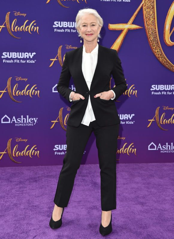 """LOS ANGELES, CALIFORNIA - MAY 21: Helen Mirren attends the premiere of Disney's """"Aladdin"""" on May 21, 2019 in Los Angeles, California. (Photo by Axelle/Bauer-Griffin/FilmMagic)"""