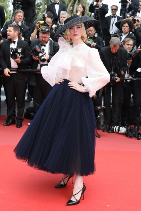 """CANNES, FRANCE - MAY 21: Elle Fanning attends the screening of """"Once Upon A Time In Hollywood"""" during the 72nd annual Cannes Film Festival on May 21, 2019 in Cannes, France. (Photo by Tony Barson/FilmMagic)"""
