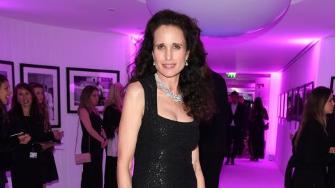 CAP D'ANTIBES, FRANCE - MAY 23: Andie MacDowell attends the amfAR Cannes Gala 2019 after party at Hotel du Cap-Eden-Roc on May 23, 2019 in Cap d'Antibes, France. (Photo by Daniele Venturelli/amfAR/Getty Images for amfAR)