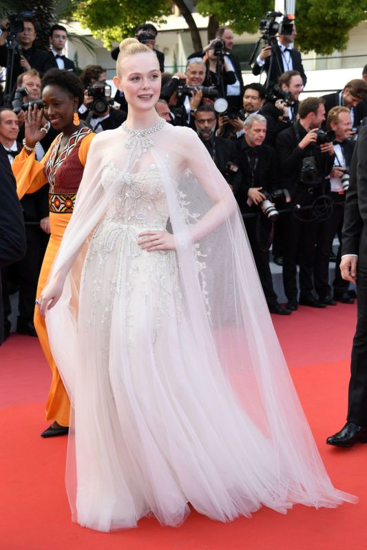 """CANNES, FRANCE - MAY 25: Elle Fanning attends the closing ceremony screening of """"The Specials"""" during the 72nd annual Cannes Film Festival on May 25, 2019 in Cannes, France. (Photo by Daniele Venturelli/WireImage)"""