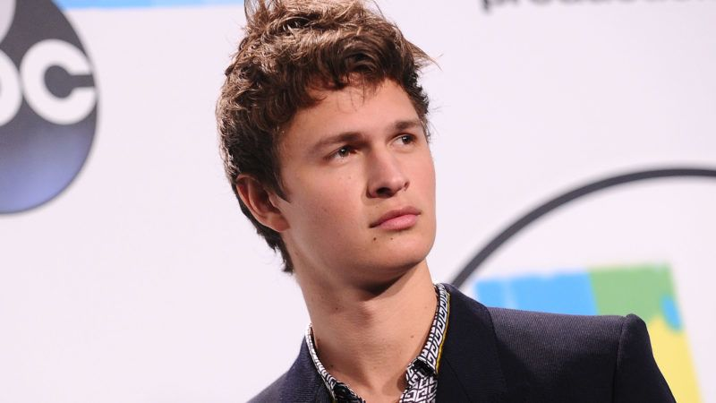 LOS ANGELES, CA - NOVEMBER 19:  Actor Ansel Elgort poses in the press room at the 2017 American Music Awards at Microsoft Theater on November 19, 2017 in Los Angeles, California.  (Photo by Jason LaVeris/FilmMagic)