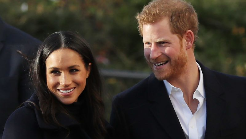 NOTTINGHAM, ENGLAND - DECEMBER 01:  Prince Harry and his fiancee, US actress Meghan Markle, visit the Nottingham Academy as part of their first official public engagements togetheron December 1, 2017 in Nottingham, England.  Prince Harry and Meghan Markle announced their engagement on Monday 27th November 2017 and will marry at St George's Chapel, Windsor in May 2018.  (Photo by Dan Kitwood/Getty Images)
