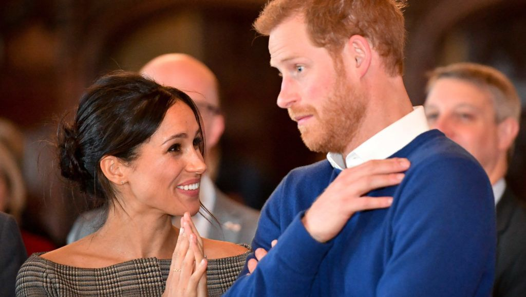 CARDIFF, WALES - JANUARY 18:  Prince Harry and Meghan Markle watch a dance performance by Jukebox Collective in the banqueting hall during a visit to Cardiff Castle on January 18, 2018 in Cardiff, Wales. (Photo by Ben Birchall - WPA Pool / Getty Images)