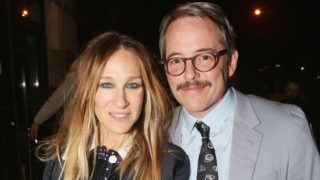 """NEW YORK, NY - APRIL 18:  Sarah Jessica Parker and Matthew Broderick pose at the opening night after party for Irish Rep's production of """"The Seafarer""""at Crompton Ale House on April 18, 2018 in New York City.  (Photo by Bruce Glikas/Bruce Glikas/FilmMagic)"""
