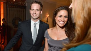 TORONTO, ON - SEPTEMBER 11:  Patrick J. Adams and Meghan Markle  attend the InStyle and Hollywood Foreign Press Association's Toronto International Film Festival Party at Windsor Arms Hotel on September 11, 2012 in Toronto, Canada.  (Photo by George Pimentel/WireImage)