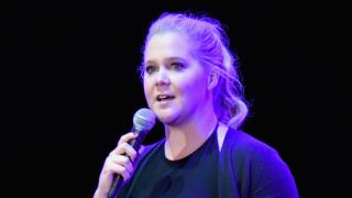 SAN FRANCISCO, CA - JUNE 02:  Amy Schumer performs on the Colossal Stage during Clusterfest at Civic Center Plaza and The Bill Graham Civic Auditorium on June 2, 2018 in San Francisco, California.  (Photo by Jeff Kravitz/FilmMagic)