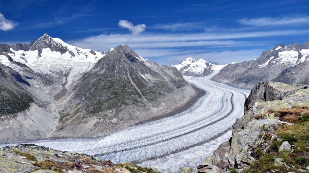 Aletsch, the biggest glacier in the Alps - Switzerland