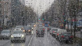 Rainy day on the street
