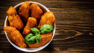 Fried meat and vegetables
