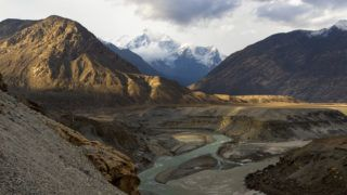 The meeting point of Himalaya, Karakoram and Hindu Kush mountain range, also Indus and Gilgit River, Gilgit-Baltistan, Pakistan.