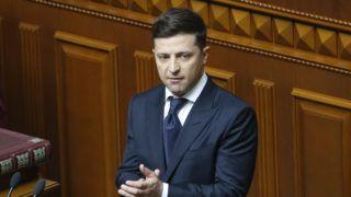 Kijev, 2019. május 20. Volodimir Zelenszkij új ukrán elnök a beiktatási ünnepségén a kijevi parlamentben 2019. május 20-án. MTI/AP/Efrem Lukackij