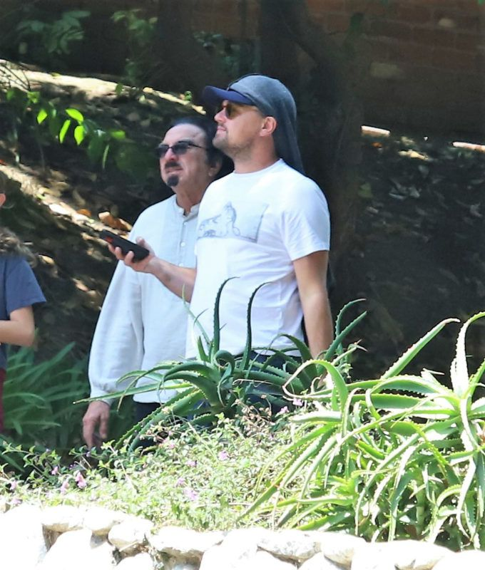 05/14/2019 EXCLUSIVE: Leo Dicaprio and his father George DiCaprio step out in Los Angeles. The 44 year old actor was dressed casual in a baseball cap, t-shirt, slouchy jeans, and white trainers.  sales@theimagedirect.com Please byline:TheImageDirect.com  *EXCLUSIVE PLEASE EMAIL sales@theimagedirect.com FOR FEES BEFORE USE May 14, 2019