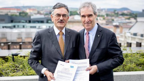 2019.05.07. Együttműködési megállapodás aláírása a CEU és a Müncheni Egyetem között.