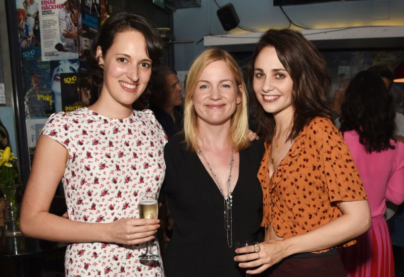 """LONDON, ENGLAND - JULY 12:  Phoebe Waller-Bridge, Vicky Jones and Tuppence Middleton attend the press night after party for """"The One"""" at Soho Theatre on July 12, 2018 in London, England.  (Photo by David M. Benett/Dave Benett/Getty Images)"""