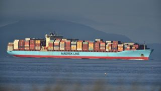 The Anna Maersk arrives at Deltaport in Tsawwassen, British Columbia, Canada, on June 29, 2019, to off load 69 containers of garbage that were returned from the Philippines. - Tonnes of Canadian garbage left in the Philippines for years arrived back home on June 29, putting an end to a festering diplomatic row that highlighted how Asian nations have grown tired of being the world's trash dump. A cargo vessel loaded with about 69 containers of rubbish docked in a port on the outskirts of Vancouver, according to an AFP reporter at the scene. The trash will be incinerated at a waste-to-energy facility, local officials said. The conflict dates back to 2013 and 2014, when a Canadian company shipped containers mislabeled as recyclable plastics to the Philippines. (Photo by Don MacKinnon / AFP)
