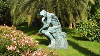 Morocco, High Atlas, Toubkal National Park, Ourika valley, Anima, Andre Heller Garden, The Thinker of Rodin