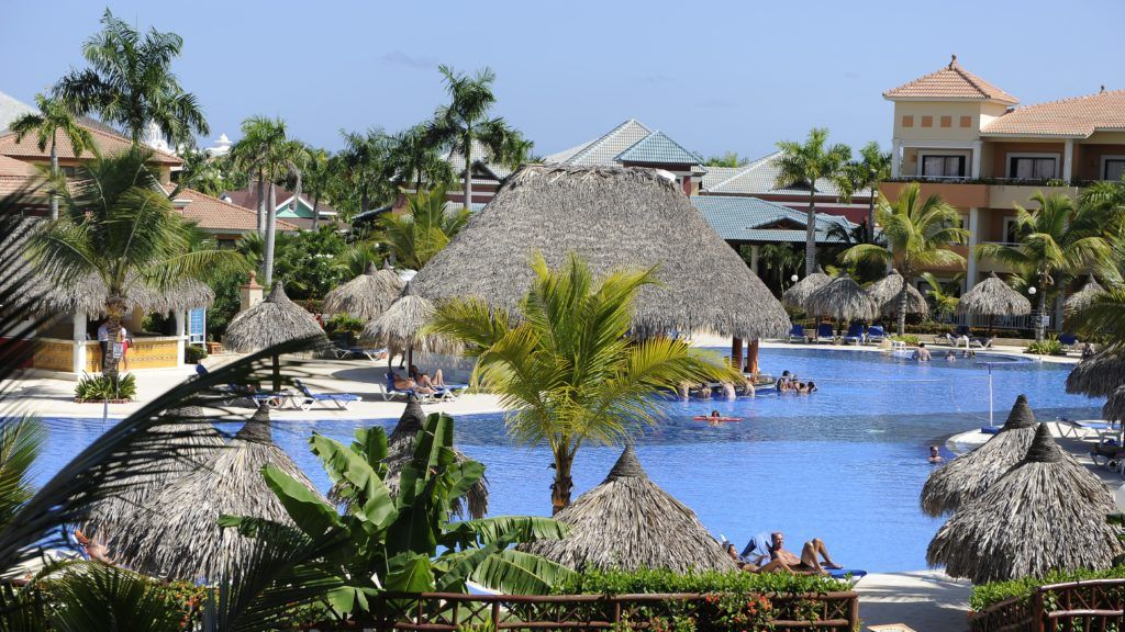 Dominican Republic, Punta Cana, one of the pools of the hotel Bahia Principe (5 Stars)