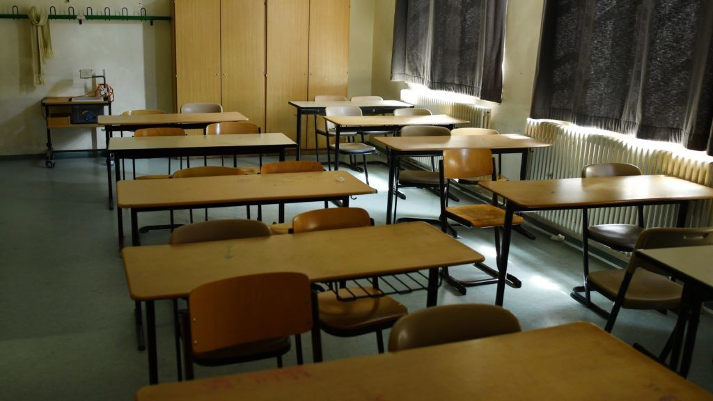 View of an empty classroom at a school in Berlin, Germany, 22 June 2017. (Staged scene). Photo: Jens Kalaene/dpa-Zentralbild/ZB
