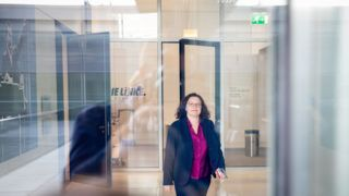29 May 2019, Berlin: Andrea Nahles, leader of the SPD parliamentary group and SPD party leader, is going to her office after the special session of the SPD parliamentary group. The topic was the early elections for the chairmanship of the group. Photo: Kay Nietfeld/dpa