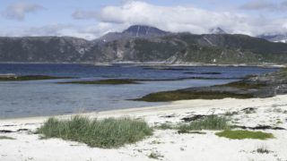 beach in northern Norway, june 2017   usage worldwide