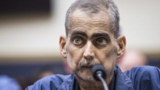 WASHINGTON, DC - JUNE 11: Retired New York Police Department detective and 9/11 responder Luis Alvarez testifies during a House Judiciary Committee hearing on reauthorization of the September 11th Victim Compensation Fund on Capitol Hill on June 11, 2019 in Washington, DC. The fund provides financial assistance to responders, victims and their families who require medical care related to health issues they suffered in the aftermath of 9/11 terrorist attacks.   Zach Gibson/Getty Images/AFP