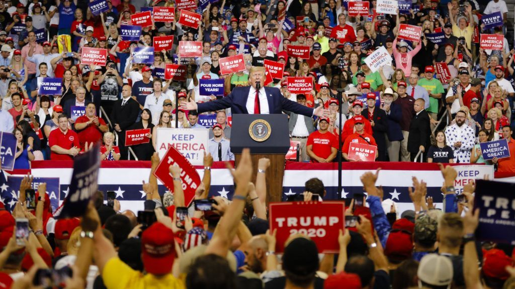 ORLANDO, USA - JUNE 18: US President Donald Trump speaks during a rally at the Amway Center in Orlando, Florida on June 18, 2019. President Donald Trump officially launch his 2020 campaign.   Eva Marie Uzcategui T. / Anadolu Agency
