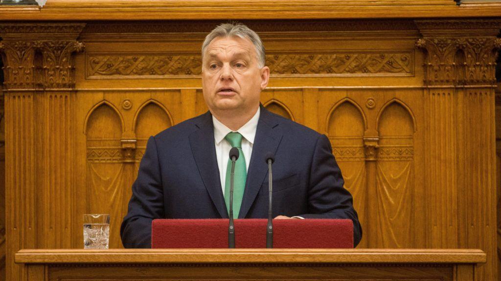 Budapest, 2019. május 27. Orbán Viktor miniszterelnök beszédet mond napirend elõtt az Országgyûlés plenáris ülésén 2019. május 27-én. MTI/Balogh Zoltán
