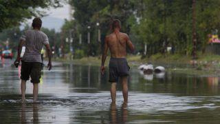 Budapest, 2017. augusztus 6. Áll a víz vihar után Budapesten, a Maglódi úton 2017. augusztus 6-án. MTI Fotó: Lakatos Péter