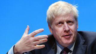 Birmingham, 2019. június 22. Boris Johnson volt külügyminiszter a kormányzó brit Konzervatív Párt vezetõjelöltje beszél a párt gyûlésén Birminghamben 2019. június 22-én. A távozó Theresa May miniszterelnök pártvezetõi tisztségéért Boris Johnson és Jeremy Hunt külügyminiszter maradt versenyben. MTI/EPA/Andy Rain