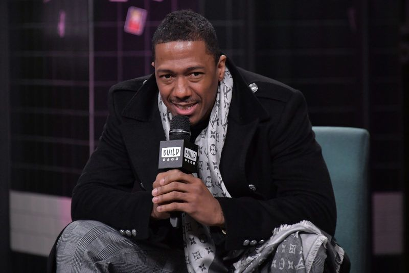"""NEW YORK, NY - DECEMBER 11:  Actor and comedian Nick Cannon visits Build to discuss the reality TV show """"The Masked Singer"""" at Build Studio on December 11, 2018 in New York City.  (Photo by Michael Loccisano/Getty Images)"""