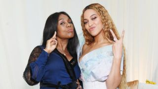 LOS ANGELES, CA - FEBRUARY 09: Yvette Noel-Schure (L) and Beyoncé attend 2019 Roc Nation THE BRUNCH on February 9, 2019 in Los Angeles, California.  (Photo by Kevin Mazur/Getty Images for Roc Nation )
