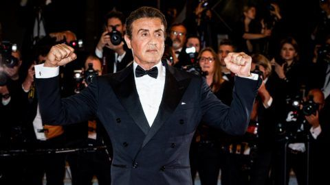 """CANNES, FRANCE - MAY 24:  (EDITORS NOTE: Image has been digitally altered)  Sylvester Stallone attends the screening of """"Rambo - Last Blood"""" during the 72nd annual Cannes Film Festival on May 24, 2019 in Cannes, France. (Photo by Andreas Rentz/Getty Images)"""